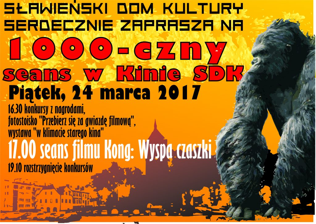 KONG 1000 czny seans