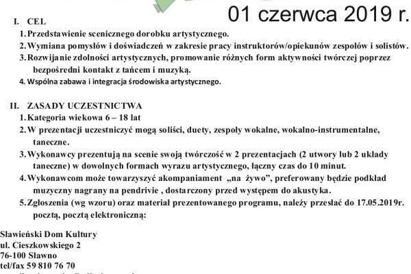 Artystyczn astajnia regulamin 2019