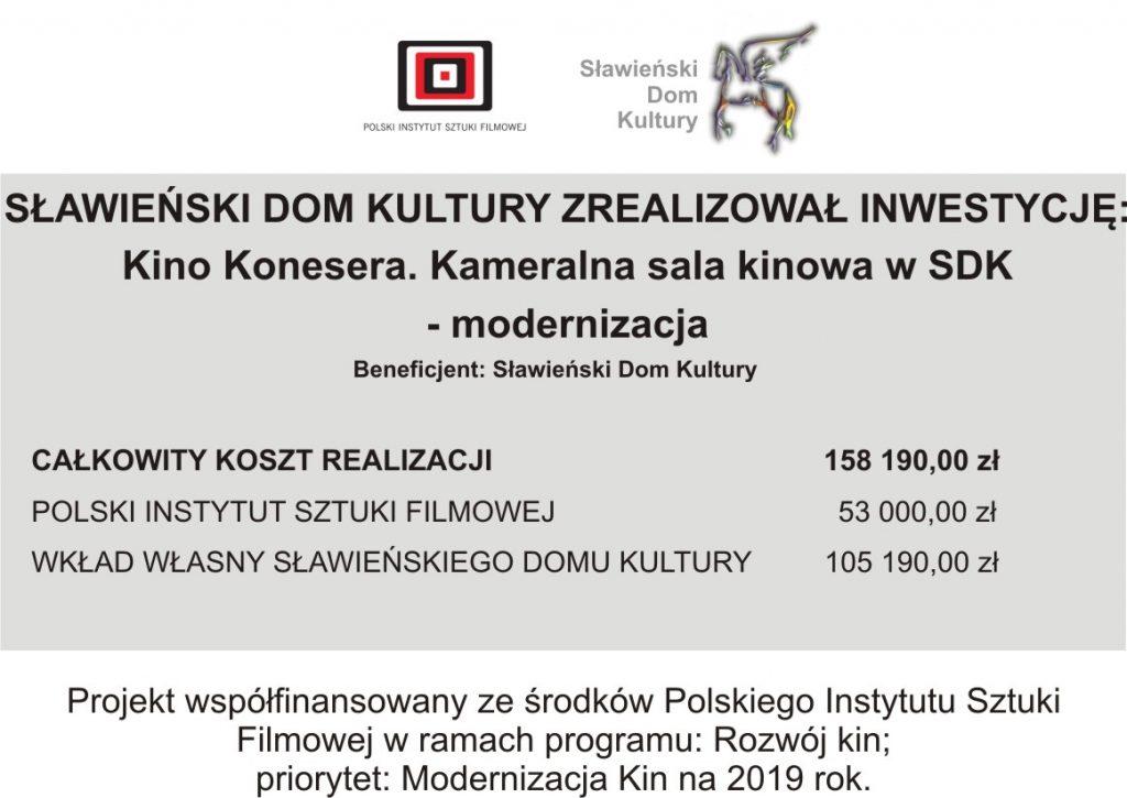 SDK Kino Konesera.Kameralna sala kinowa SDK - modernizacja
