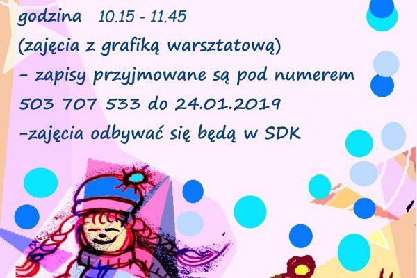 Plakat ferie 2019 agata szczepaniak poprawione godziny 1024px