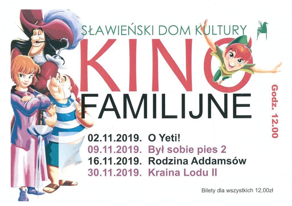 Kino Familijne Listopad 2019