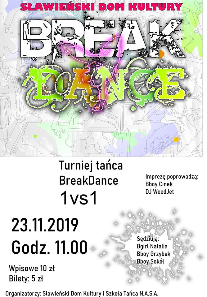 Turniej Tańca Break Dance 23.11.2019
