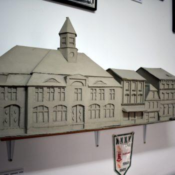 Makieta autorstwa Tadeusza Bąka - budynki miasta Sławno