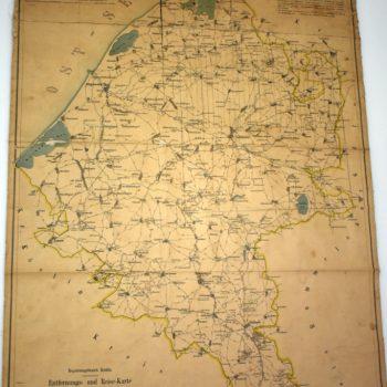 Mapa połączeń drogowych powiatu sławieńskiego.