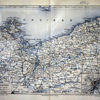 Mapa Pomorza 1894 rok.