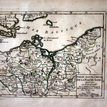 Mapa Pomorza rok 1794.