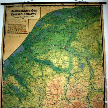 Mapa Powiatu Sławieńskiego z 1936 roku.