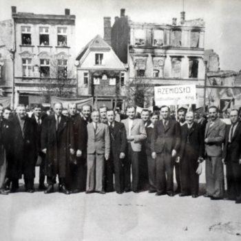 Sławieńscy rzemieślnicy 1947 rok.