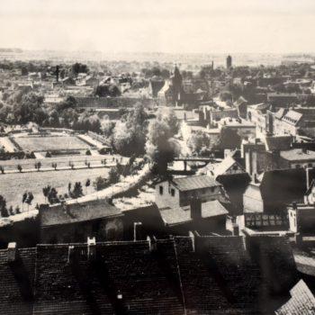 Śródmieście Sławna z lotu ptaka 1939 rok.