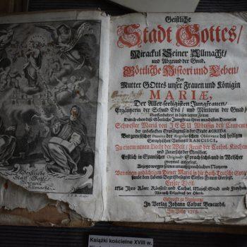 Książka kościelna z XVIII w.