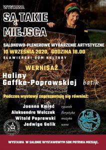"""""""Są takie miejsca"""" wernisaż Haliny Gaffke-Poprawskiej 10.09.2020"""